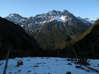 Debris & Ragged Ridge below camp