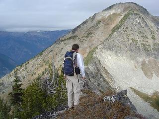 Ed Looking Towards the Summit from Near 6802'