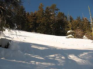 Deep, soft, unconsolidated snow