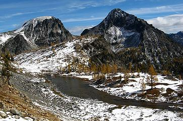 Middle Ice Pond & sunny summits