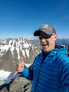Gardner Mountain summit selfie