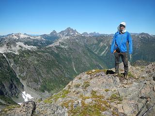 Steven on Phillips south peak summit