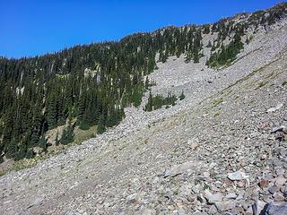 talus field I had to cross in Lillian basin traverse
