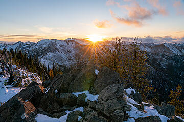 Sunset from the summit