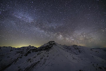 Milky Way rising above Coldwater Peak