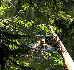 Matt swimming