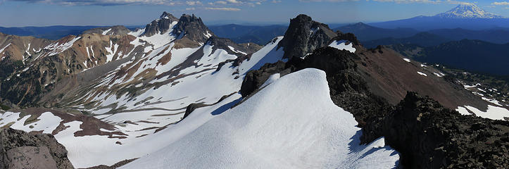 Looking East from the summit of Old Snowy along the Klickitat Ridge with McCall Glacier below.