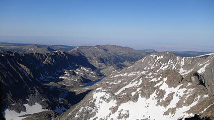 View down Wilderness Basin from the summit