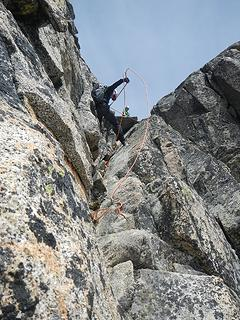 Mike rappelling