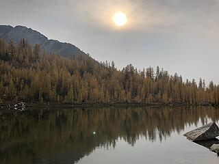 Hazy/smoky when we get to Star Lake on Thursday afternoon