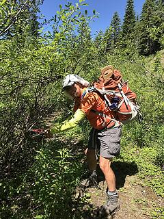 Steve maintains the trail