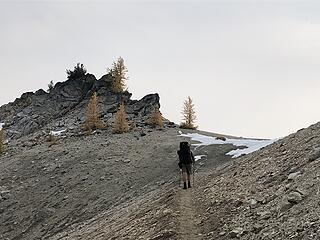 Reaching Fish Creek Pass