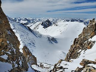 Looking down the gully from the top