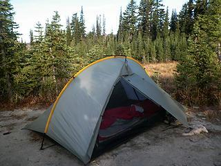 Camp in Snowgrass Flat