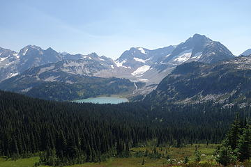 Lyman and Upper Lyman from near Cloudy Pass