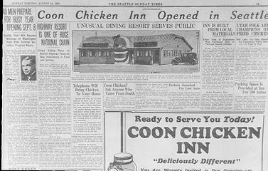 Coon Chicken Inn Ad