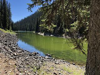 Dead Lake swimming spot, Slate Peak, Buckskin Ridge, Frosty Pass, PCT Loop 8/12-8/19/20