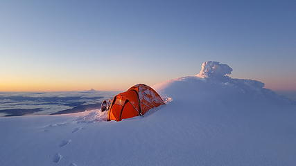 My campsite on the summit