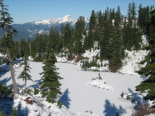 view of one of the frozen lakes