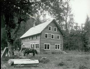 Enchanted Valley Chalet, July 1934 by Asahel Curtis, courtesy Washington State Historical Society