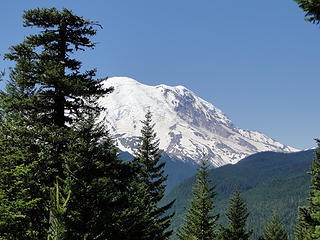 Rainier not far up fork now heading to Crystal Lakes.