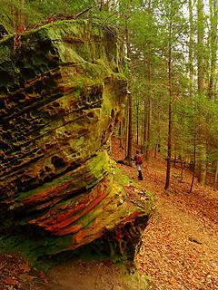 20- Psychedelic honeycomb rock (selfie)
