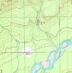 Big Fir Trail USGS 7.5 topo Kloochman Rock 1990 (excerpt)