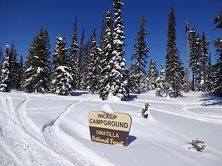 A campground along the way at 6000.'