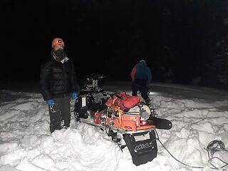 Snowmobiling out