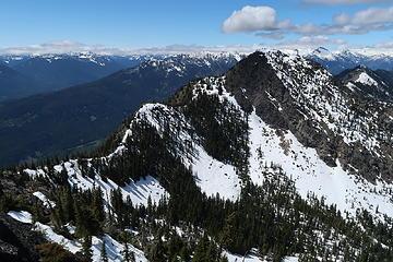 Ridge route to Dirtyface Peak