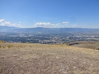 Missoula is located at what was once the bottom of an ice age lake. The scablands of Washington were formed when water rushed out of this area down toward the Pacific Ocean.