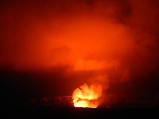 our second time at Kilauea at night