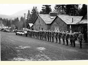 Quilcene CCC at Penny Creek Camp