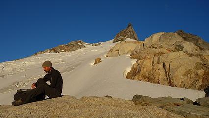 Taking a break on the beautiful ridge