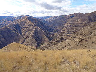 The narrows of Joseph Creek Canyon wind  down to nearby Oregon.