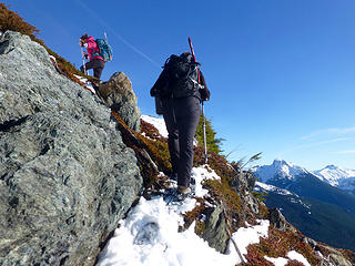 Snowshoe rock and heather scramble