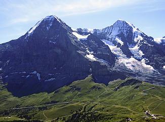 Eiger From Tschuggen Summit