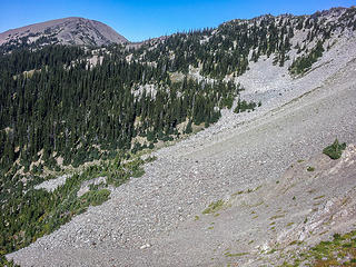 talus field below Low Pass