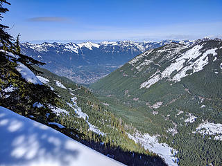 View down valley from Dirty Harry summit