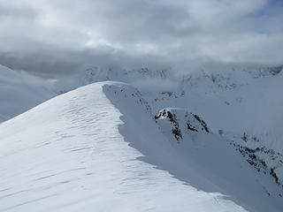 Windswept ridge and a bit of sunlight