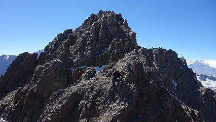 A view of the final class 4 summit scramble