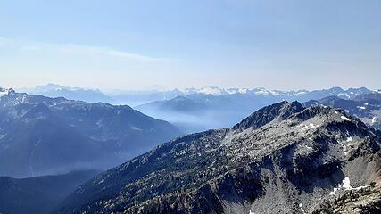 views to south, smoky
