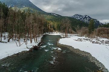 Photo taken from the bridge, looking northwest.