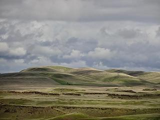 Distant Palouse Hills.