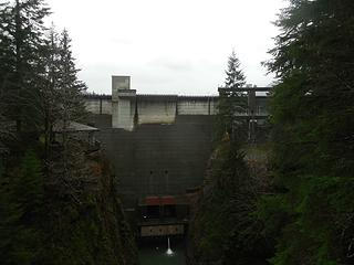 the Wynoochee Dam, the architecture evokes some sort of dystopian overlord mood, like a prison fortress... at least to me