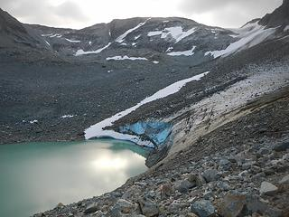 glacier feeding upper lake