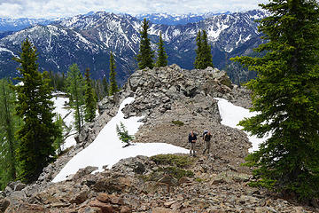 Steve and Rich approaching Milton's summit.