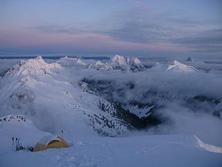 Camp at dawn