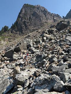 More boulder-scrambling on the way down