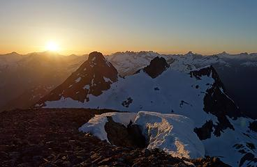 Sunset from Neve Peak